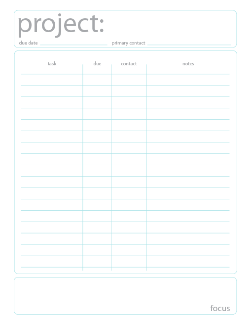 Ask Jacqueline: Free Project Planning Template  Free Project Planner Template
